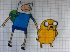Finn and Jake (Colored) by ProsperingMinds