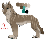 Wolf Auction #2 Adopt: Oncoming-Storm by IzzyShea