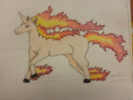 Rapidash Colored by Blancoart89