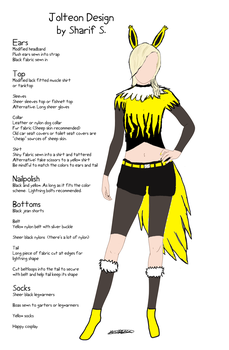 Jolteon Cosplay by yourfaceisacomic