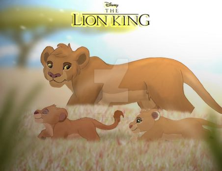 The Lion King - Tama and her Daughters by imaginativegenius099