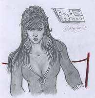 Black Widow by ParadoxSketchbook
