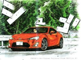 Toyota FT86 in Initial D by azn069
