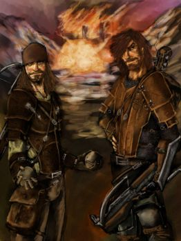 H and F by slaine69 by Malazan-Art-Guild