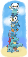Pokemon Water Starter Totem by weter11