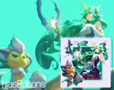 Photoshop 6 Background Star Guardian Soraka by NiasEditions