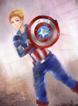 Captain America: Lucky Star by Fiveonthe