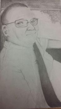 Realistic portrait of my grandpa! by LibraPotato