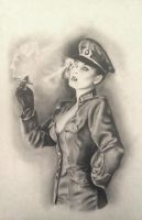 Dita in Uniform by Apokefale
