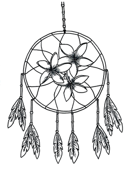 Coloring page - Dream Catcher - Hand Drawn by Catou95