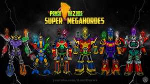 Power Razors Super MegaHordes by AnutDraws