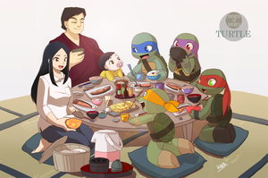 Breakfast of HAMATO family by 07kiwa