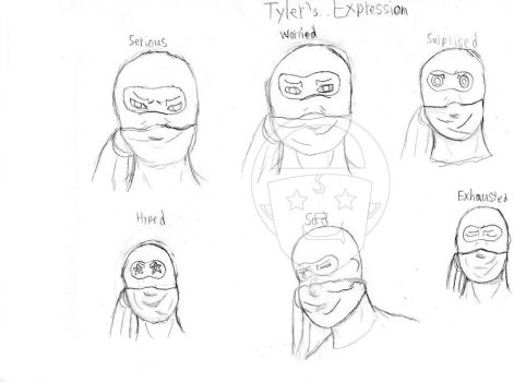 Tyler's expressions. by Sur-Shiner