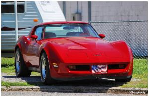 A Hot Red Corvette by TheMan268