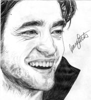 Robert Pattinson by girlinterruptedbyart