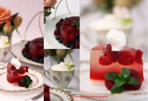 Raspberry Champagne Jello II by theresahelmer