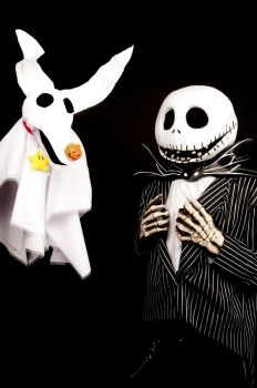 Jack Skellington and Zero by ItsNeT