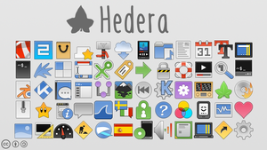 Hedera icons by sixsixfive