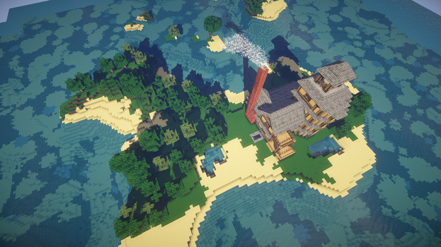 Minecraft Island House 2 by Flexico