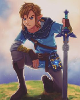 Link (The Legend of Zelda Breath of the Wild) by Kimopoleis