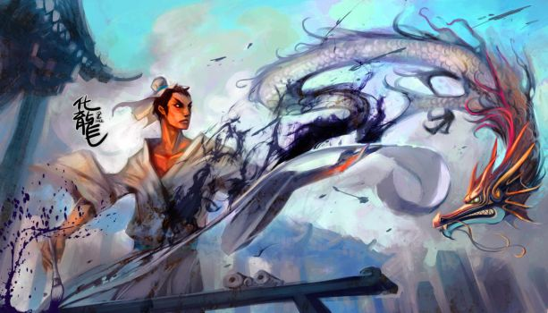 painting dragon by breath-art