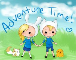 ADVENTURE TIME Fionna and Finn by Jhordee